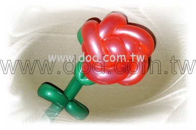 手工气球玫瑰花_手工气球造型
